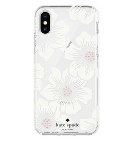 kate spade new york kate spade Hardshell Case for iPhone XS/X - Hollyhock Floral Clear/Cream with Stones