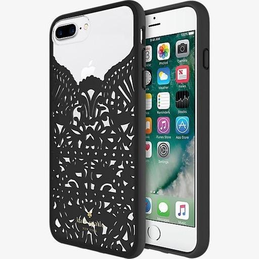 kate spade new york kate spade Hardshell Case for iPhone 8/7/6 Plus - Lace Hummingbird Black