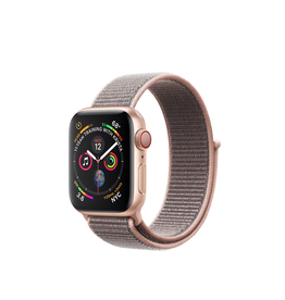 Apple Apple Watch Series 4 GPS + Cellular, 44mm Gold Aluminium Case with Pink Sand Sport Loop (Open Box)