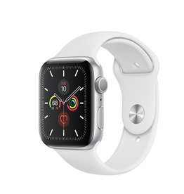 Apple Apple Watch Series 5 GPS, 40mm Silver Aluminium Case with White Sport Band