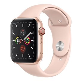 Apple Apple Watch Series 5 GPS + Cellular, 44mm Gold Aluminium Case with Pink Sand Sport Band