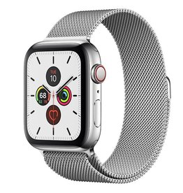 Apple Apple Watch Series 5 GPS + Cellular, 44mm Stainless Steel Case with Stainless Steel Milanese Loop