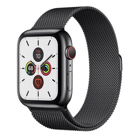 Apple Apple Watch Series 5 GPS + Cellular, 44mm Space Black Stainless Steel Case with Space Black Milanese Loop