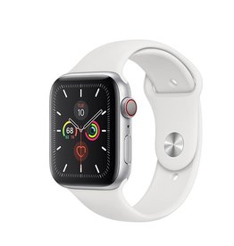 Apple Apple Watch Series 5 GPS + Cellular, 40mm Silver Aluminium Case with White Sport Band