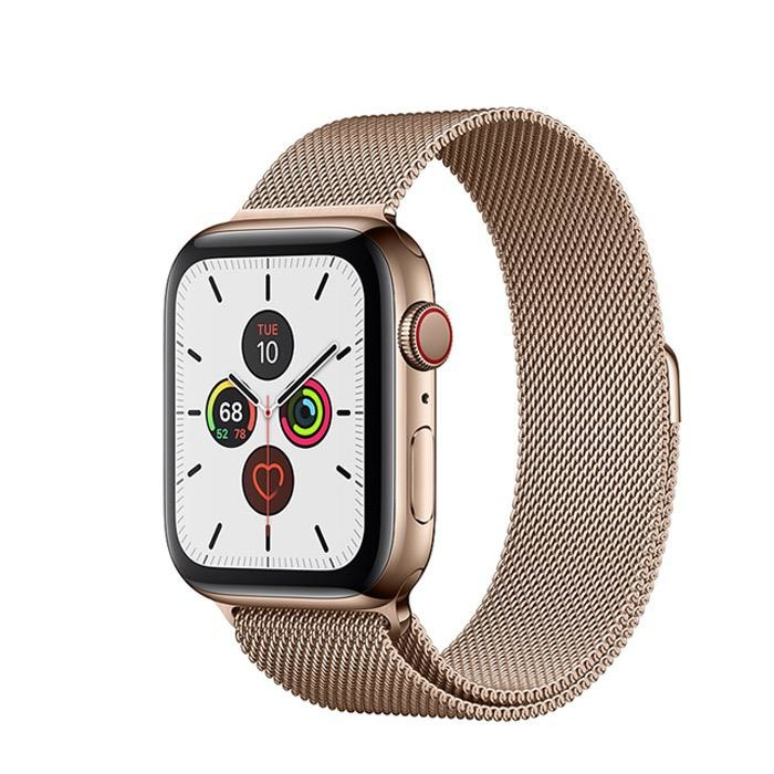Apple Apple Watch Series 5 GPS + Cellular, 40mm Gold Stainless Steel Case with Gold Milanese Loop