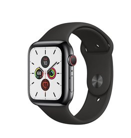 Apple Apple Watch Series 5 GPS + Cellular, 40mm Space Black Stainless Steel Case with Black Sport Band