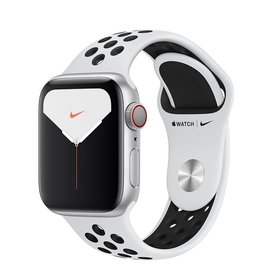 Apple Apple Watch Nike Series 5 GPS + Cellular, 40mm Silver Aluminium Case with Pure Platinum/Black Nike Sport Band