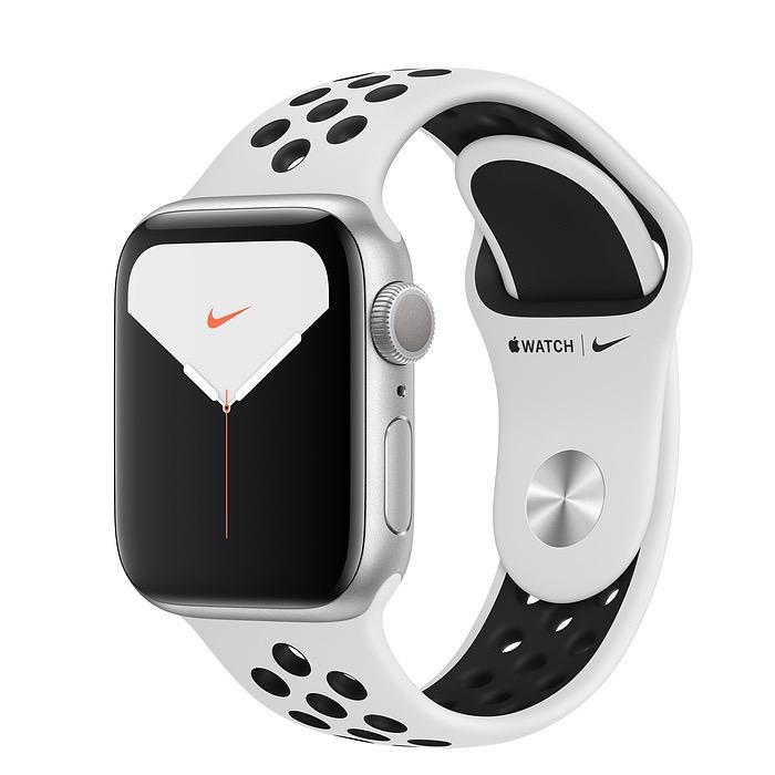 Apple Apple Watch Nike Series 5 GPS, 40mm Silver Aluminium Case with Pure Platinum/Black Nike Sport Band