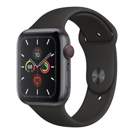 Apple Watch Series 5 GPS + Cellular, 44mm Space Grey Aluminium Case with Black Sport Band Deposit (Non-refundable)
