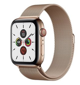 Apple Watch Series 5 GPS + Cellular, 44mm Gold Stainless Steel Case with Gold Milanese Loop Deposit (Non-refundable)