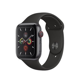 Apple Watch Series 5 GPS + Cellular, 40mm Space Grey Aluminium Case with Black Sport Band Deposit (Non-refundable)