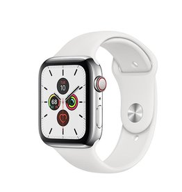 Apple Watch Series 5 GPS + Cellular, 40mm Stainless Steel Case with White Sport Band Deposit (Non-refundable)