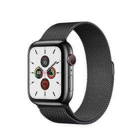 Apple Watch Series 5 GPS + Cellular, 40mm Space Black Stainless Steel Case with Space Black Milanese Loop Deposit (Non-refundable)