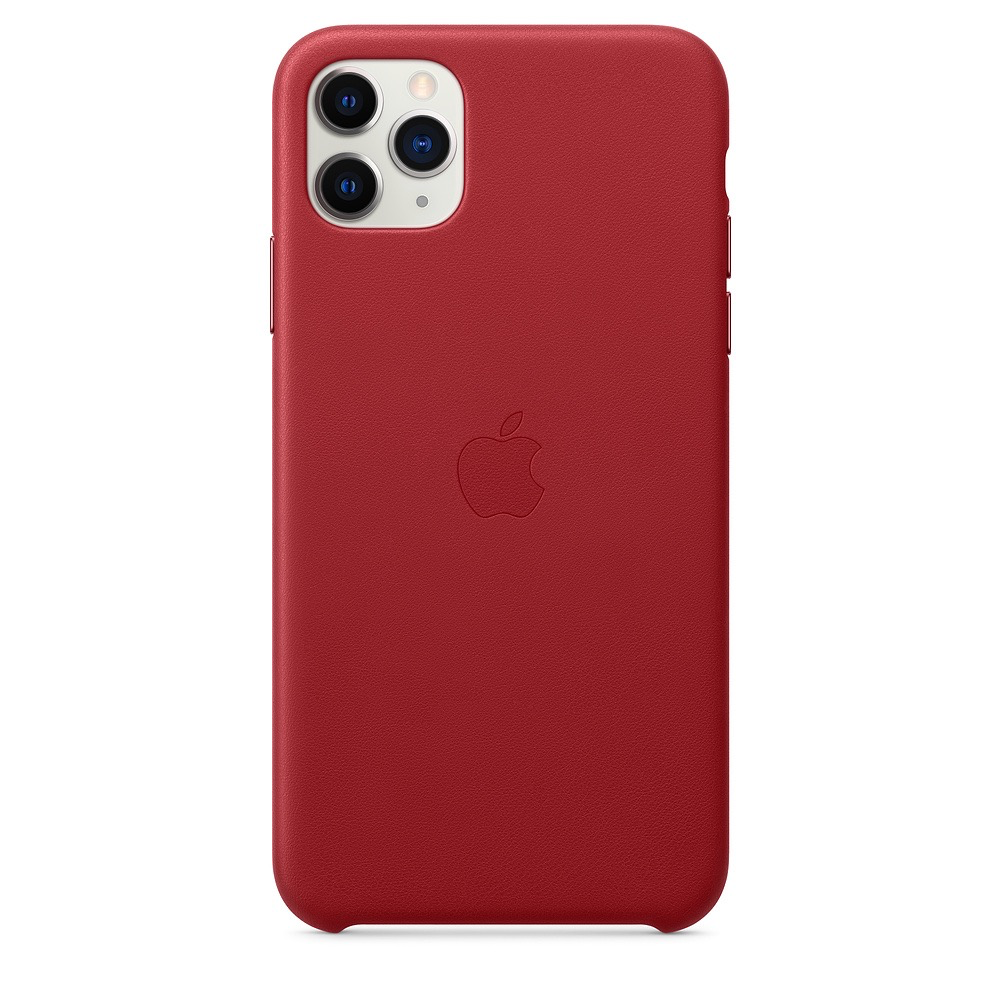 Apple Apple iPhone 11 Pro Max Leather Case - (PRODUCT)RED