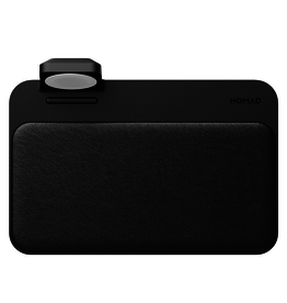 Nomad Nomad Base Station 10W Qi Dual Charging Pad with Apple Watch Charger- Black