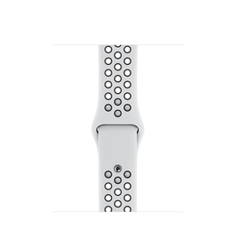 Apple 44mm Pure Platinum/Black Nike Sport Band