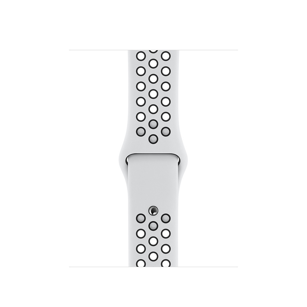 Apple 44mm Pure Platinum/Black NikeSportBand