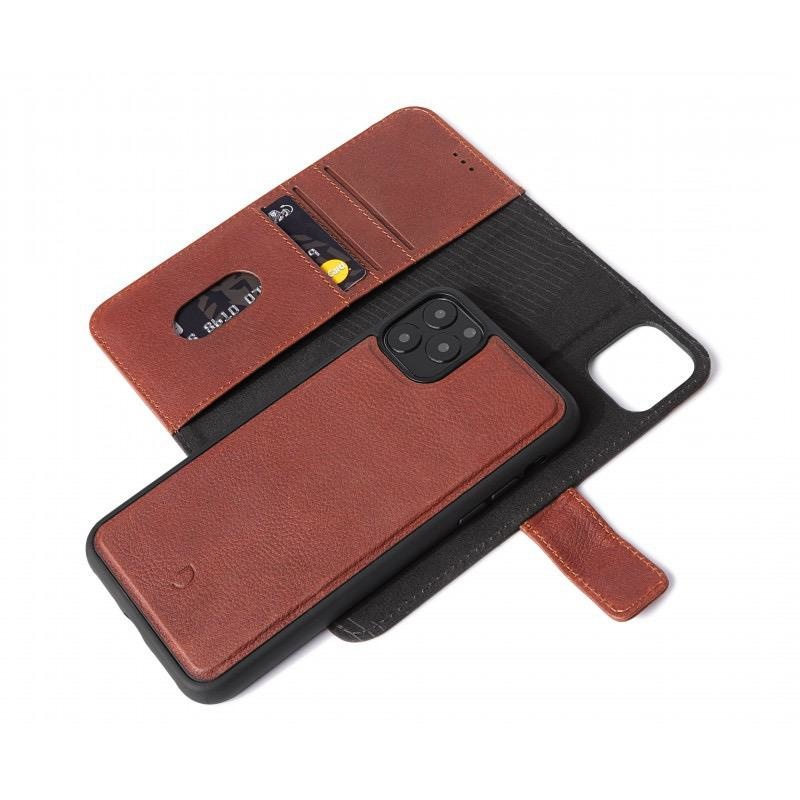 Decoded Decoded 2-in-1 Wallet Case for iPhone 11 Pro - Brown