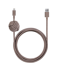 Native Union Native Union 3M USB to Lightning Knot Night Cable - Taupe