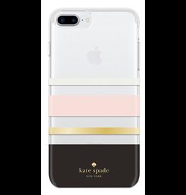kate spade new york kate spade Hardshell Case for iPhone 8/7/6 Plus - Charlotte Stripe Blush / Black / Gold