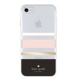 kate spade new york kate spade Hardshell Case for iPhone 8/7/6 - Charlotte Stripe Blush / Black / Gold