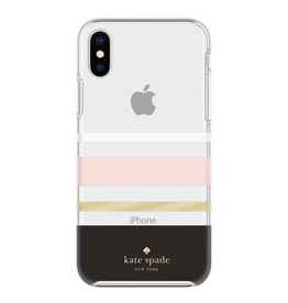 kate spade new york kate spade Hardshell Case for iPhone XS Max - Charlotte Stripe Blush / Black / Gold
