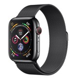 Apple Apple Watch Series 4 GPS + Cellular, 44mm Space Black Stainless Steel Case with Space Black Milanese Loop