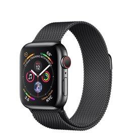 Apple AppleWatch Series4 GPS+Cellular, 40mm Space Black Stainless Steel Case with Space Black Milanese Loop