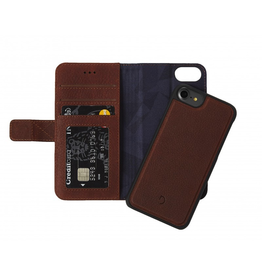 Decoded Decoded 2-in-1 Wallet Case for iPhone SE (2020) 8/7/6 - Cinnamon Brown