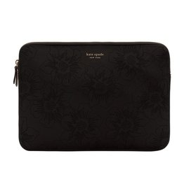 kate spade new york kate spade Slim 13-Inch Macbook Sleeve - Black Hollyhock