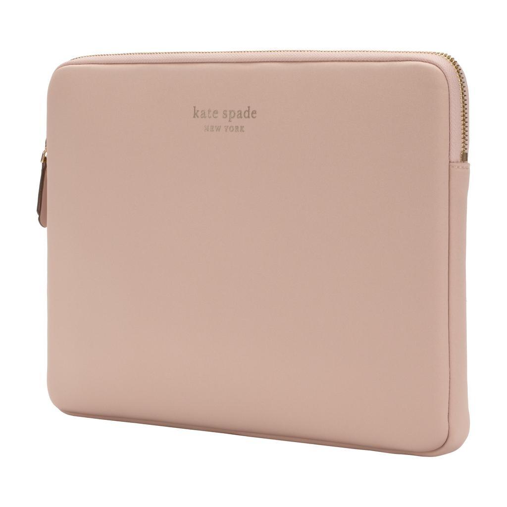 kate spade new york kate spade Slim 13-Inch Macbook Sleeve - Pale Vellum / Gold Zipper