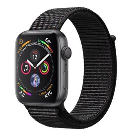 Apple AppleWatch Series4 GPS, 44mm Space Grey Aluminium Case with Black Sport Loop