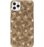 COACH COACH Slim Wrap Case for iPhone 11 Pro Max - Signature C Khaki Pop Star