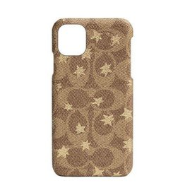 COACH COACH Slim Wrap Case for iPhone 11 - Signature C Khaki Pop Star