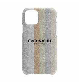 COACH COACH Protective Case for iPhone 11 Pro Max - Glitter Americana Neutral Glitter