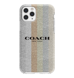 COACH COACH Protective Case for iPhone 11 Pro - Glitter Americana Neutral Glitter
