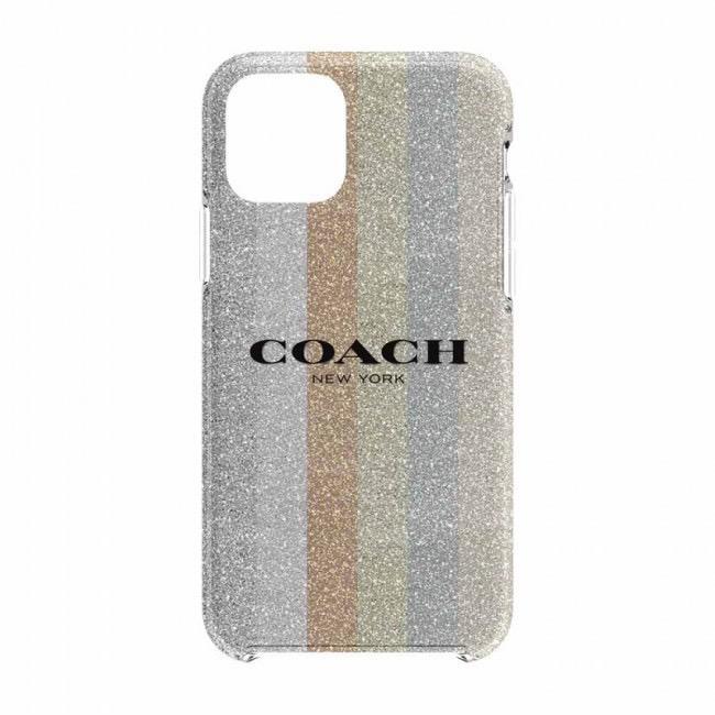 COACH COACH Protective Case for iPhone 11 - Glitter Americana Neutral Glitter