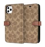 COACH COACH Leather Folio Case for iPhone 11 Pro Max - Signature C Khaki