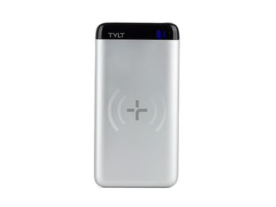 Tylt Tylt 5000mAh Xact 5K Wireless Charging Pad and Power Bank - Silver