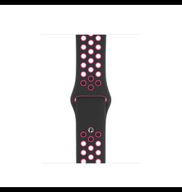 Apple 44mm Black/Pink Blast Nike Sport Band
