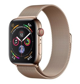 Apple AppleWatch Series4 GPS+Cellular, 44mm Gold Stainless Steel Case with Gold Milanese Loop