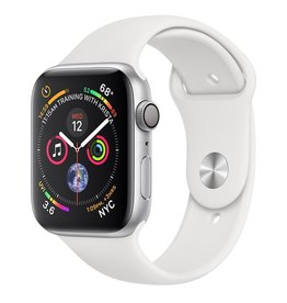 Apple AppleWatch Series4 GPS,44mm Silver Aluminium Case with White Sport Band