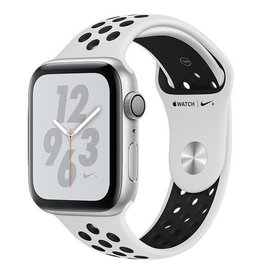Apple AppleWatch Nike+ Series4 GPS, 44mm Silver Aluminium Case with Pure Platinum/Black Nike Sport Band