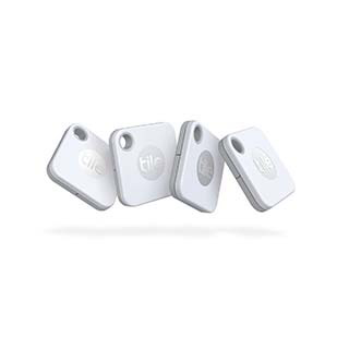 Tile Tile Mate Bluetooth Tracker with Replaceable Battery - 4 Pack (2020)