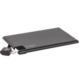 Tylt TYLT 1350mAh Slim Boost Battery Pack with Lightning Cable - Black