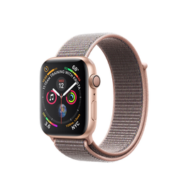 Apple Apple Watch Series 4 GPS, 44mm Gold Aluminium Case with Pink Sand Sport Loop (Open Box)