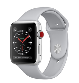 Apple Apple Watch Series 3 GPS + Cellular 42mm Silver Aluminium Case with Fog Sport Band (Open Box)