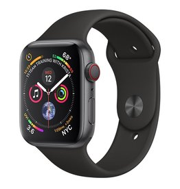 Apple Apple Watch Series 4 GPS + Cellular, 44mm Space Grey Aluminium Case with Black Sport Band