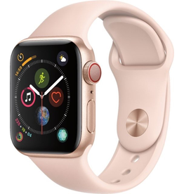 Apple Apple Watch Series 4 GPS + Cellular, 40mm Gold Aluminium Case with Pink Sand Sport Band (Open Box)