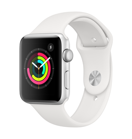Apple AppleWatch Series3 GPS, 42mm Silver Aluminium Case with White Sport Band (Open Box)